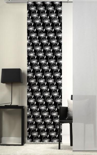 Emotion Textiles 1er Flächenvorhang Schiebevorhang Löwenzahn minis Schwarz incl. Montagesatz