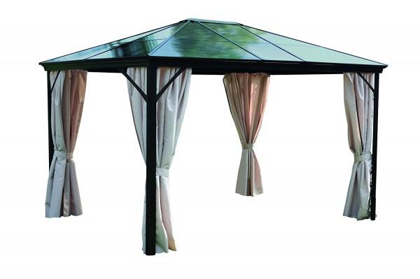 "Pavillon ""Expert"" Pavillion 365 x 260 x 300cm Überdachung Sonnendach Dach natur"