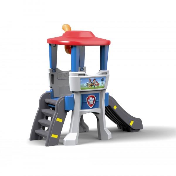 """Klettergerüst """"Sam"""" im aus Kunststoff rot,blau,grau mit Rutsche 154,9x71,4x141cm Aussichtsturm"""