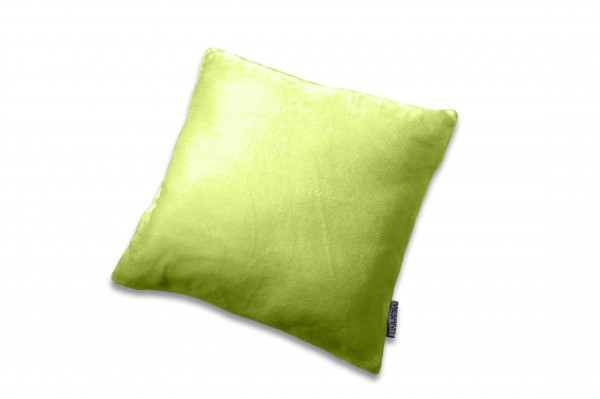 """Kissen """"Bella"""" grün mit Reißverschluss und Füllung Polyester Microfaser-Nicky Plüsch 40x40cm"""