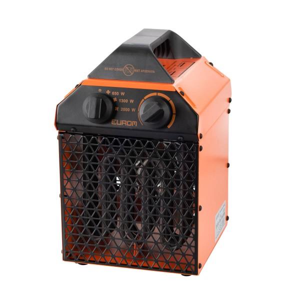 """Werkstattheizung """"Ajub"""" schwarz/orange 21,5x19,5x32cm 2000W elektrische Heizung Garagenheizung"""