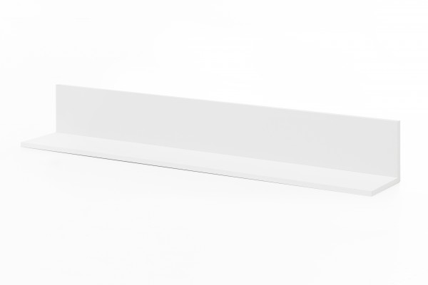 "Wandboard ""Solita"", 120 x 18 x 19,5 cm, weiß, Wohnzimmer, Wandpaneel, Wandregal, Bücherregal"