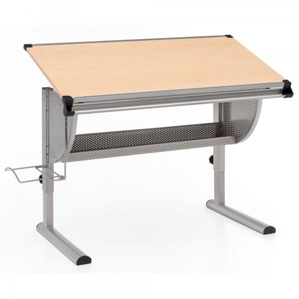 """Schreibtisch """"Meike"""" Melaminharzbeschichtung 117x60,5x62,5-92,5cm Kinderschreibtisch"""