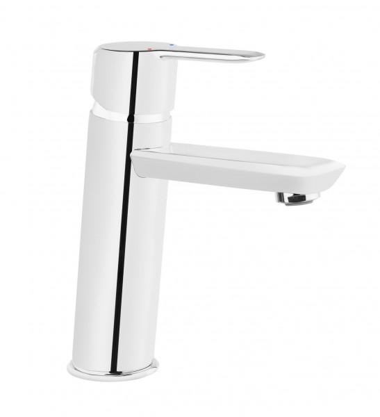 """Badezimmerarmatur """"Move"""" Einloch-Waschbeckenarmatur stehend silber verchromt modern elegant"""