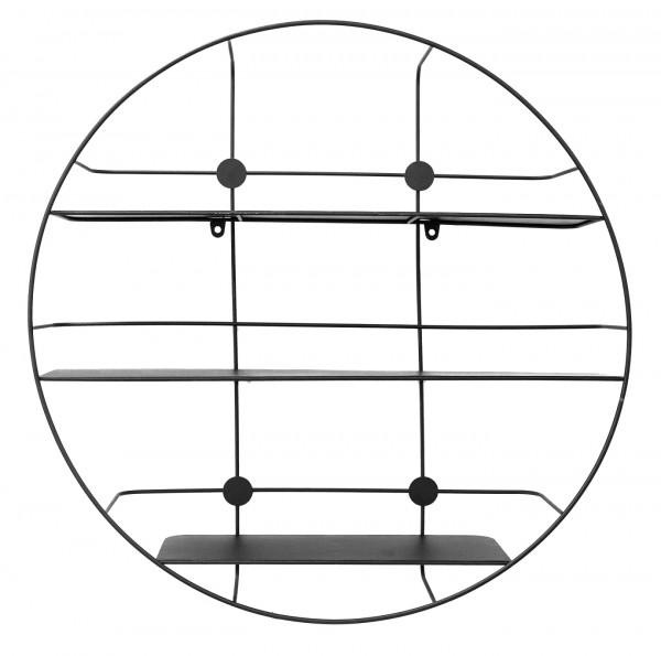 "Spiegelprofi 51005504 Metallregal DONAU Wandregal, ""Hiko"" - schwarz, in Ø 55 cm, Tiefe 12 cm Metallregal Regal"