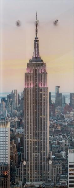 """Spiegelprofi 76055014 Glasgarderobe FELIX Glasgarderobe """"Empire State Building"""", 50x125x6 cm, Kleiderhaken"""