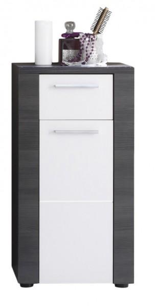 """Badezimmerschrank """"Mario"""", Kommode, Esche grau, weiß, 40 x 78 x 28 cm"""