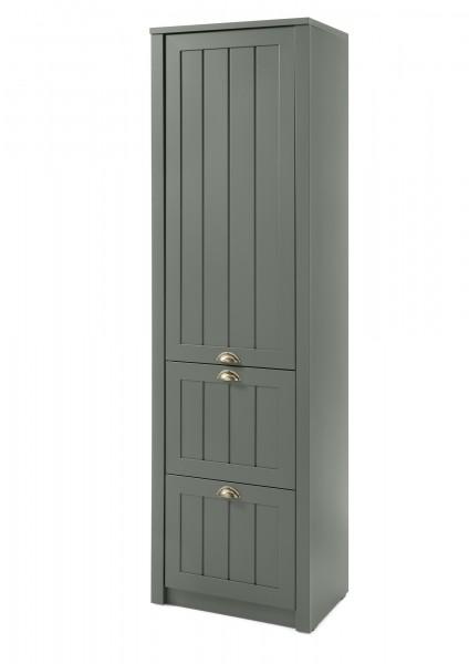 """Garderobenschrank """"Monde"""" Holzdekor grün 60x204x43cm Stauraumschrank"""