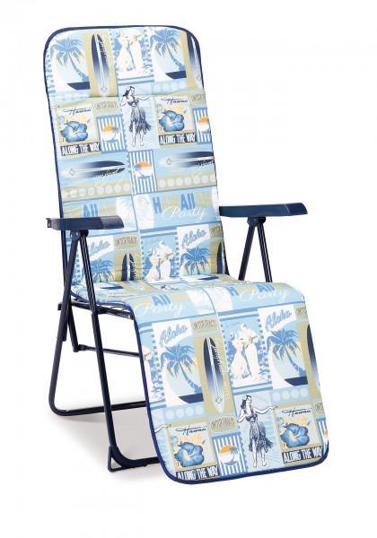 "Relaxliege ""Blair"" blau/D.1880 58x75x108cm Klappsessel Campingsessel"