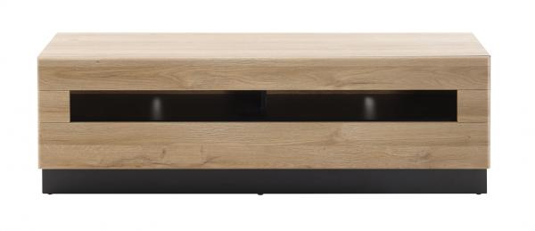 """Lowboard """"Ruby II"""" Grandson Oak hell Dekor 140x46x48cm Sockel in schwarz TV-Board"""