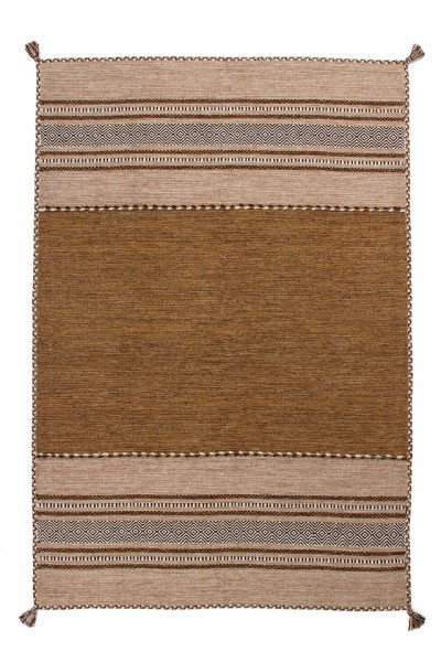 """Beauty.Scouts Kurzflorteppich """"Luanda"""", handgewebt, braun, 80x150 cm, 120x170 cm, 160x230 cm, 200x290 cm"""