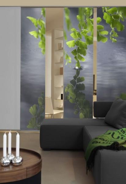 Emotion Textiles Schiebevorhang Flächenvorhang Harmonie 3-er Set incl. Montagesatz
