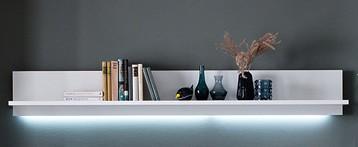 """Wandboard """"Luzie"""" Board, weiß hochglanz/ weiß matt, 180x24x25cm, Wandregal, Regal"""