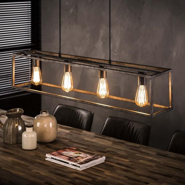 """Hängelampe """"Gondo"""" Metallampe Silber 98x18x150cm (B/T/H) Industrial Style  Zijlstra"""