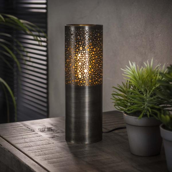 """Tischlampe """"Seegaard"""" Zylinderform schwarz 10x10x30cm (B/T/H) Tischleuchte Zijlstra"""