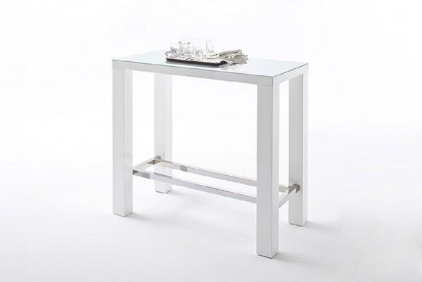 "Barmöbel Set ""Looma"" 5-tlg. Bistrotisch, 4 Stühle, weiß, apfel, grün,120x107x60cm"
