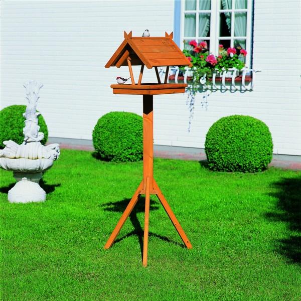 """Vogelhaus """"Marlina"""", Kiefer, 144 x 42 x 36cm, inkl. Standfuß, Vogelhäuschen, Gartenvogelhaus, Garten"""