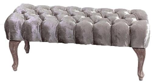 BAROCK DESIGN POLSTERBANK CHARLOTTE | 100 cm, champagnerfarben | nostalgische Sitzbank | Prime Versa