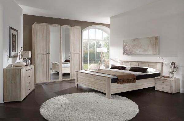 Bett Set, Schlafzimmerset, Schlafzimmer, Malamut Second, Beauty.Scouts, Eiche sägerau, Komplett