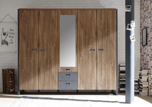 """Kleiderschrank """"Java Large"""" Stirling Oak Nachbildung, 232x202x60 cm"""