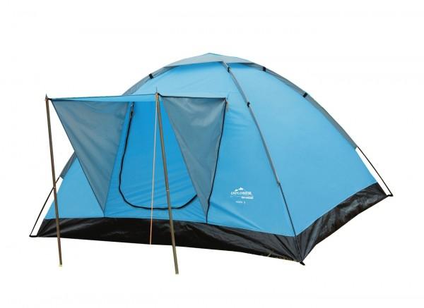 """Domezelt """"Maik"""" 180x200x120cm blau schlicht wasserabweisend brandversiegelt"""