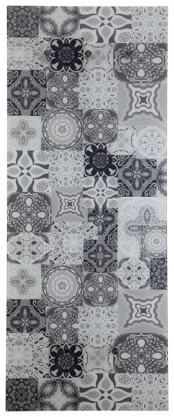 "Spiegelprofi 76135014 Glasgarderobe FELIX X Glasgarderobe ""Art Deco"", 50x125x6 cm, Garderobe, Kleiderhaken"