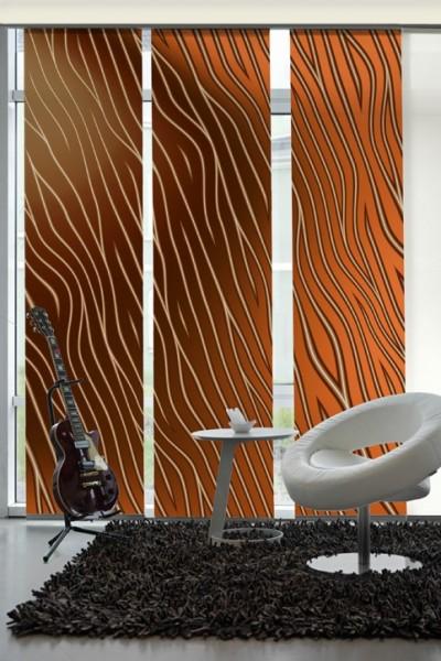 fl chenvorhang schiebevorhang 3er set firewire inkl montagesatz schiebevorh nge motiv natur. Black Bedroom Furniture Sets. Home Design Ideas