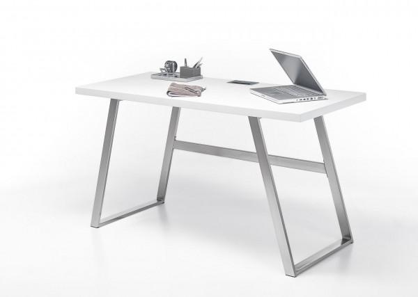 """weiss, hell, Schreibtisch """"Sabea"""", weiss oder Asteiche massiv, 140x75x60cm"""