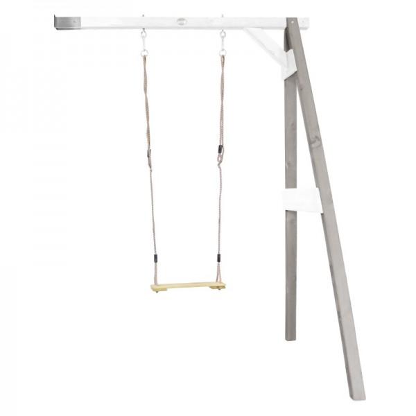 """Anbauschaukel """"Bend I"""" Schaukel Hemlock Holz grau-weiß 160x171x207cm Einzelschaukel Holzschaukel"""