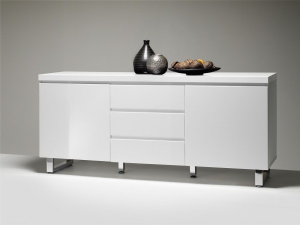 Sideboard Bel Air Two Hochglanz Weiss 167x74x42 Cm Beauty