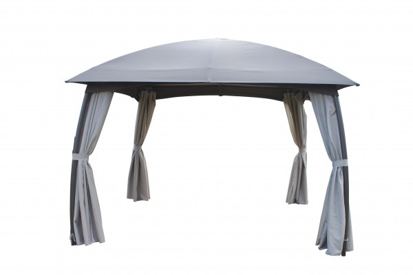 "Pavillon ""Martha"" anthrazit Polyester 330x330x286cm Partyzelt Sonnendach Dach"