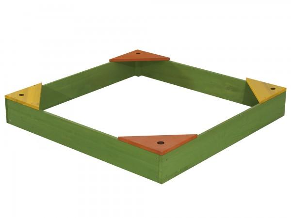 """Sandkasten """"Talissa"""" aus Hemloch-Holz 90x90x13,5cm mit Abdeckung"""