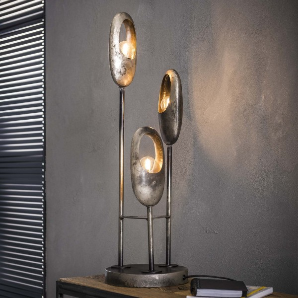 "Tischlampe ""Flambeau"" 3 Lampenschirme Metall 21x21x69cm (B/T/H) Tischleuchte  Zijlstra"