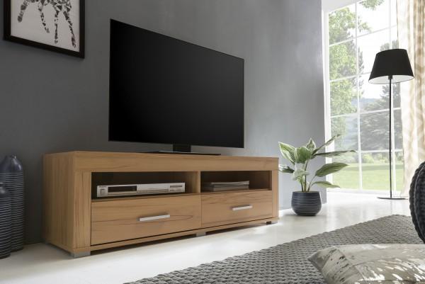 """TV-Lowboard """"Frank 5"""", Kernbuche, 120 x 39 x 37 cm, 2 Schubkästen, 2 offene Fächer"""