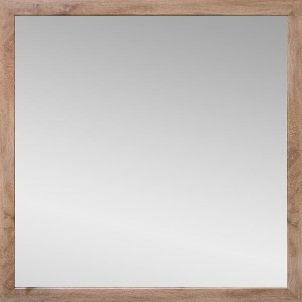 """Spiegelprofi 60284429 Rahmenspiegel KATHI Rahmenspiegel """"Sina"""", Wotan Eiche, mit Rahmen, ca.45 x 45cm Spiegel"""