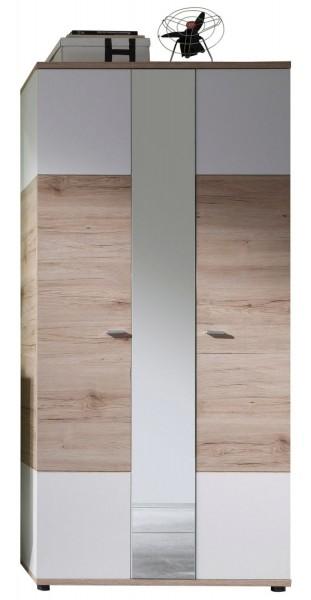 Garderobenschrank 'Mel Bourne XXL', Eiche San Remo Nachbild., 90x190x38cm