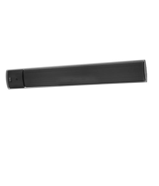 """Terrassenheizstrahler 1x Outdoor Heatpanel RC Eurom Heizstrahler """"Black Line 2"""", 1800 Watt, 125 x 17 x 5 cm, dunkel Heizstrahler"""