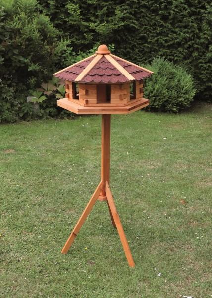 """Vogelhaus """"Merle"""", Kiefer, 59 x 143 cm, inkl. Standfuß, Vogelhäuschen, Gartenvogelhaus, Garten"""