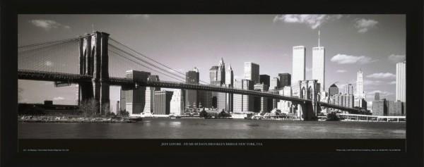 "Bild Wandbild Kunstdruck ""Manhattan City"" 150 x 52 cm"