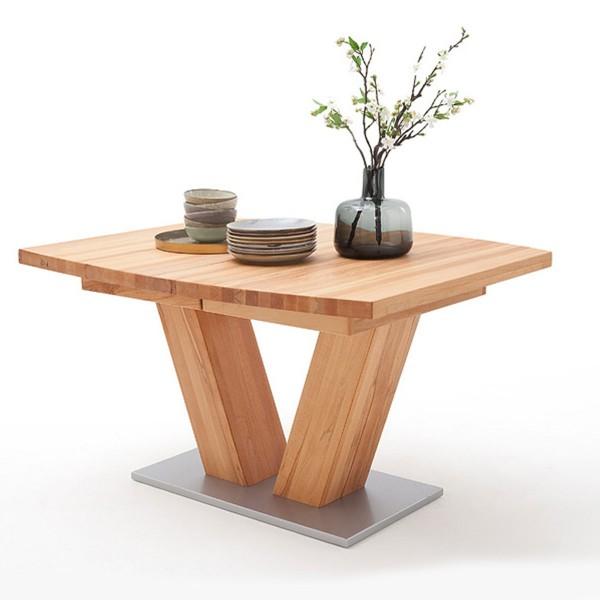 """Esstisch """"Calendonia I"""" Tisch bootsförmig ausziehbar Kernbuche 180(270)x78x100cm Küchentisch"""