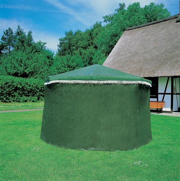 """Wetterschutzumhang für Pavillon """"Lena"""", grün, PE-Gewebe, 2 Eingangstüren, Wetterschutz, Garten"""