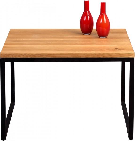 """Couchtisch """"Sina"""", Wildeiche, Gestell schwarz matt, 60x43x60 cm"""