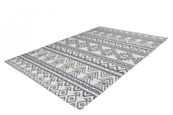 """Teppich """"Finja"""" schwarz grau weiß modernes Design Ethnolook pflegeleicht Outdoorteppich Indoortepp-"""