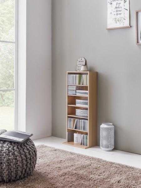 """Medienregal """"Owen"""", Buche, 35 x 90 x 23 cm, Bücherregal, Regal, 5 Einlegeböden"""