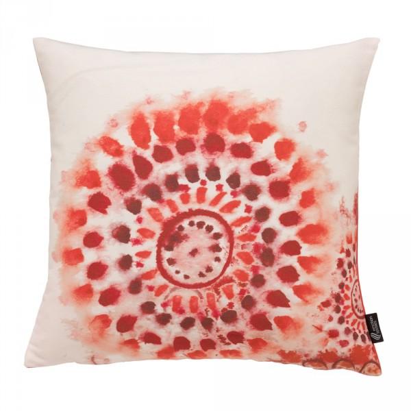 Emotion Textiles Kissenbezug Batikblume rot 50 X 50 cm