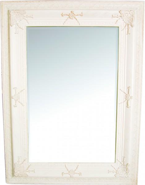 "Wandspiegel Antik Look ""Alois"" Weiß"