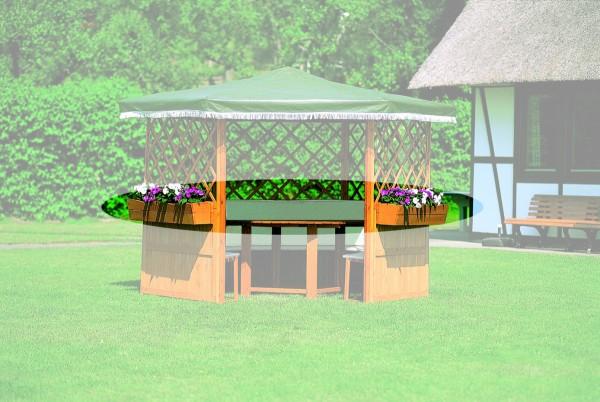 """5er-Blumenkastenset für Pavillon """"Marion"""" und """"Milena"""", honigbraun, 108 x 22 x 19 cm, Garten"""