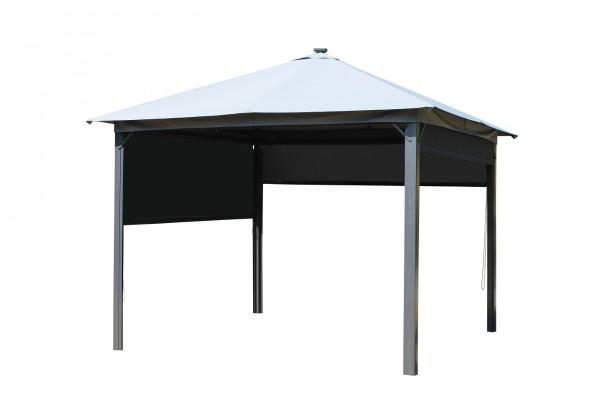 """Pavillon """"Anna"""" anthrazit, lichgrau Polyester 300x300x255cm Sonnendach Dach"""