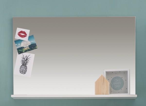 """Spiegel mit Ablage """"Starlight"""",91 x 60 x 14,Spiegel,Hängespiegel,weiß Hochglanz Gardrobenspiegel"""