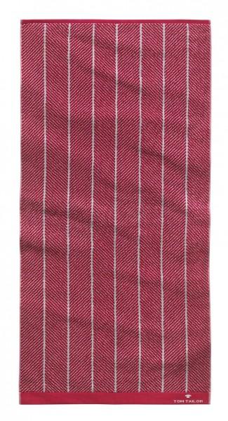 "Tom Tailor Duschtuch Handtuch Jacquard Towels ""Barolo Line"", 2er-Set, 50 x 100 cm"